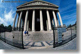 buildings, europe, fisheye lens, france, horizontal, magdalene, paris, photograph