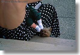 babies, dogs, emotions, europe, feet, france, horizontal, humor, paris, shitzu, womens, photograph