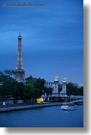 boats, buildings, clouds, eiffel, eiffel tower, europe, france, haze, nature, nite, paris, rivers, sky, structures, towers, vertical, water, photograph