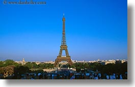 buildings, eiffel tower, europe, france, horizontal, paris, structures, towers, photograph