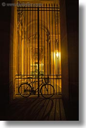 bicycles, europe, france, gates, louvre, paris, vertical, photograph