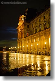 europe, france, glasses, louvre, materials, nite, paris, vertical, photograph