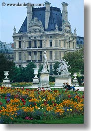 europe, flowers, france, louvre, paris, vertical, photograph