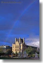 europe, france, louvre, paris, rainbow, vertical, photograph