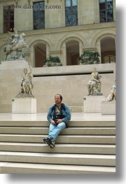 europe, france, louvre, paris, self-portrait, vertical, photograph