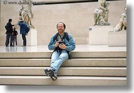 europe, france, horizontal, louvre, paris, self-portrait, photograph