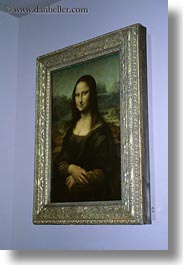 europe, france, lisa, louvre, mona, paintings, paris, vertical, photograph