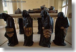 bearers, coffin, europe, france, horizontal, louvre, paris, robed, photograph
