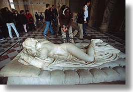 europe, france, hermaphrodite, horizontal, louvre, paris, sleeping, photograph
