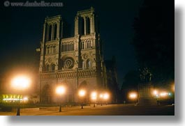 europe, france, glow, horizontal, lights, nite, notre dame, paris, photograph