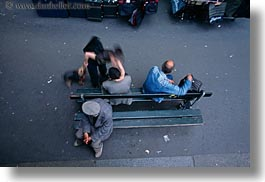 benches, downview, europe, france, horizontal, paris, people, photograph