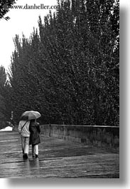 black and white, conceptual, couples, emotions, europe, france, paris, people, romantic, umbrellas, vertical, walking, photograph