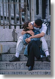 conceptual, emotions, europe, france, kissing, lovers, paris, people, romantic, vertical, photograph