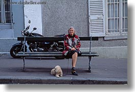 europe, france, horizontal, paris, people, poodle, senior citizen, womens, photograph