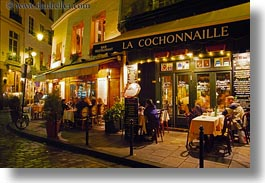 cafes, cochonnaille, europe, france, horizontal, nite, paris, saint germaine, photograph