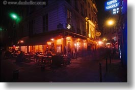 cafes, corner, europe, france, horizontal, nite, paris, saint germaine, photograph