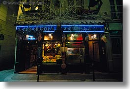 cafes, europe, france, greek, horizontal, nite, paris, saint germaine, photograph