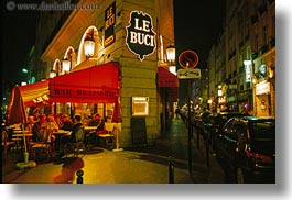 bars, cafes, europe, france, horizontal, le buci, nite, paris, saint germaine, photograph