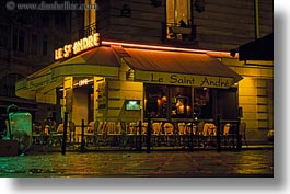 cafes, europe, france, horizontal, le st andre, nite, paris, saint germaine, photograph