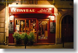europe, france, horizontal, meats, nite, paris, restaurants, saint germaine, photograph