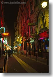 europe, france, nite, paris, saint germaine, streets, vertical, photograph