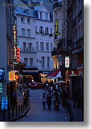 europe, france, nite, paris, pedestrians, saint germaine, streets, vertical, photograph