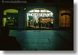 europe, france, horizontal, nite, paris, saint germaine, services, signs, photograph