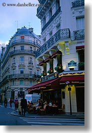 cafes, dusk, europe, france, paris, saint germaine, st germaine, vertical, photograph