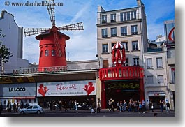 europe, france, horizontal, moulin, paris, rouge, signs, photograph