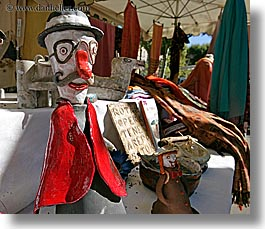 aix en provence, arts, clay, clown, colors, europe, figurines, france, horizontal, materials, provence, red, photograph
