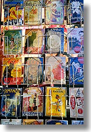 aix en provence, arts, colorful, colors, europe, france, french, paintings, postcards, provence, vertical, photograph