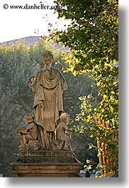 aix en provence, arts, colors, europe, france, green, marble, materials, provence, statues, vertical, photograph