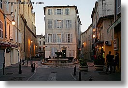 aix en provence, buildings, europe, france, horizontal, provence, slow exposure, small, squares, photograph