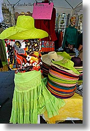 aix en provence, colors, dresses, europe, fabrics, france, green, provence, vertical, photograph