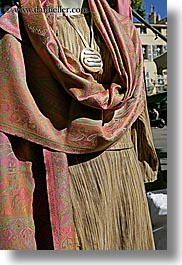 aix en provence, browns, colors, dresses, europe, fabrics, france, provence, vertical, photograph