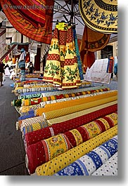 aix en provence, colorful, colors, europe, fabrics, france, provence, vertical, photograph