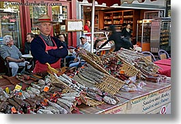 aix en provence, europe, foods, france, horizontal, meats, men, provence, slow exposure, vendors, photograph