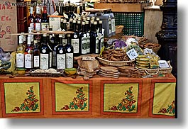 aix en provence, bottles, colors, europe, foods, france, horizontal, oils, olives, oranges, provence, yellow, photograph