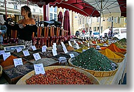 aix en provence, colorful, colors, europe, foods, france, horizontal, provence, spices, womens, photograph