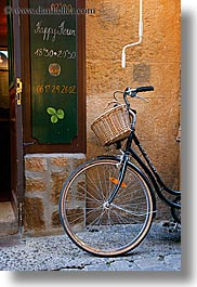 aix en provence, baskets, bicycles, europe, france, provence, slow exposure, vertical, wheels, photograph