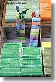 aix en provence, colorful, colors, europe, france, green, provence, soaps, vertical, photograph