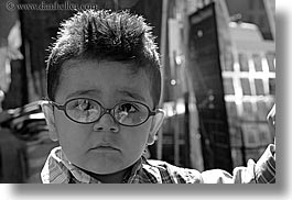 aix en provence, black and white, boys, childrens, emotions, europe, france, glasses, horizontal, humor, people, provence, toddlers, photograph