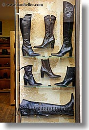 aix en provence, boots, europe, france, provence, stores, vertical, windows, photograph