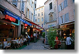 aix en provence, cafes, europe, france, horizontal, provence, stores, streets, photograph