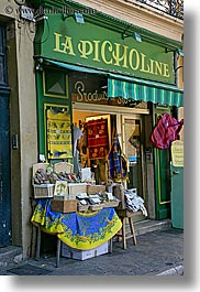 aix en provence, blues, colors, europe, france, green, provence, stores, vertical, photograph