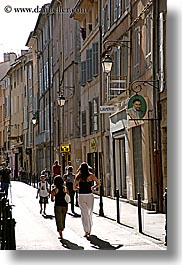 aix en provence, europe, france, narrow streets, people, provence, streets, vertical, walking, photograph