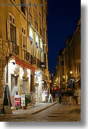 aix en provence, dusk, europe, france, motion blur, narrow streets, nite, people, provence, slow exposure, streets, vertical, walking, photograph