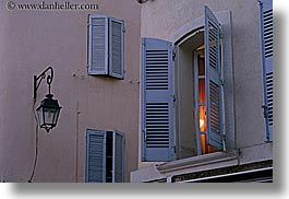 aix en provence, europe, france, horizontal, lamp posts, lamps, open, provence, slow exposure, windows, photograph