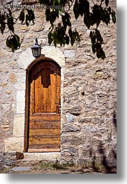 archways, bargeme, browns, colors, doors, europe, france, lights, materials, provence, stones, structures, vertical, photograph