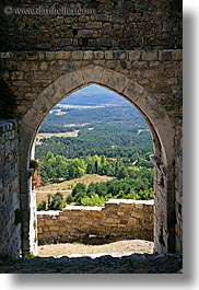arches, archways, bargeme, doors, europe, france, gothic, materials, provence, scenics, stones, structures, vertical, photograph